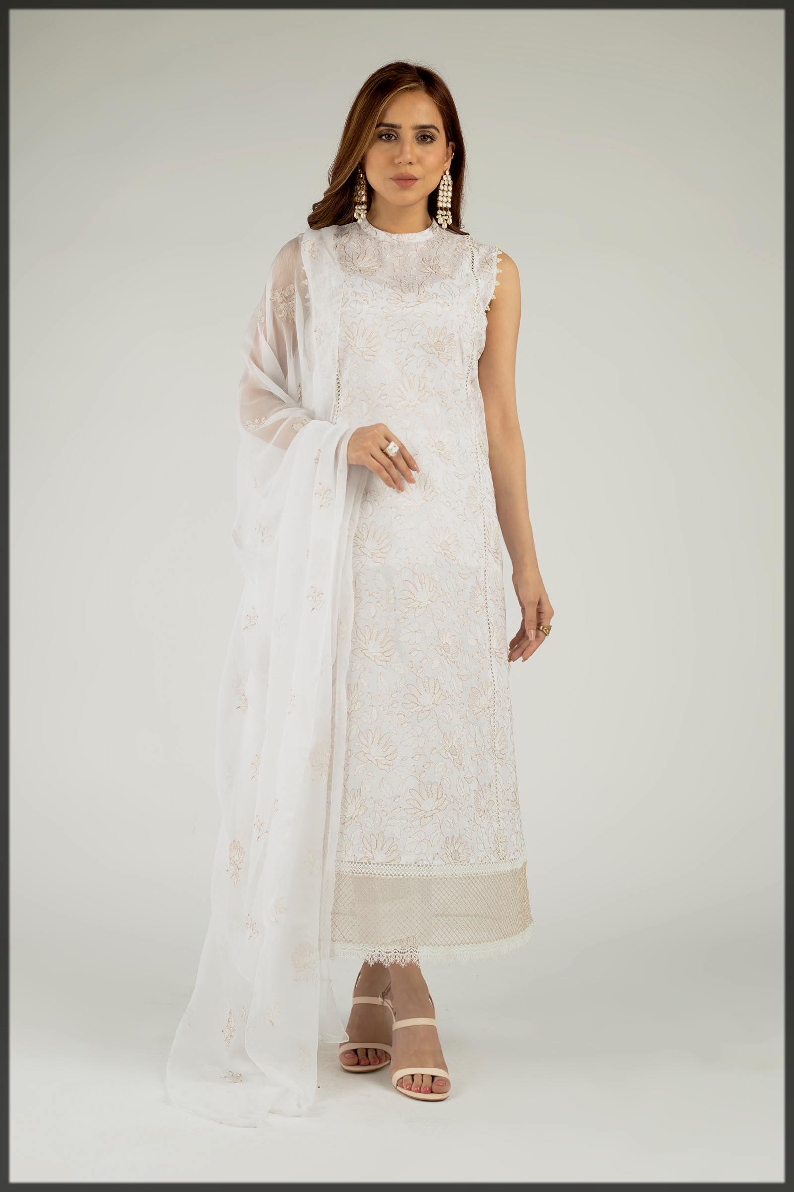 white eid suit for women