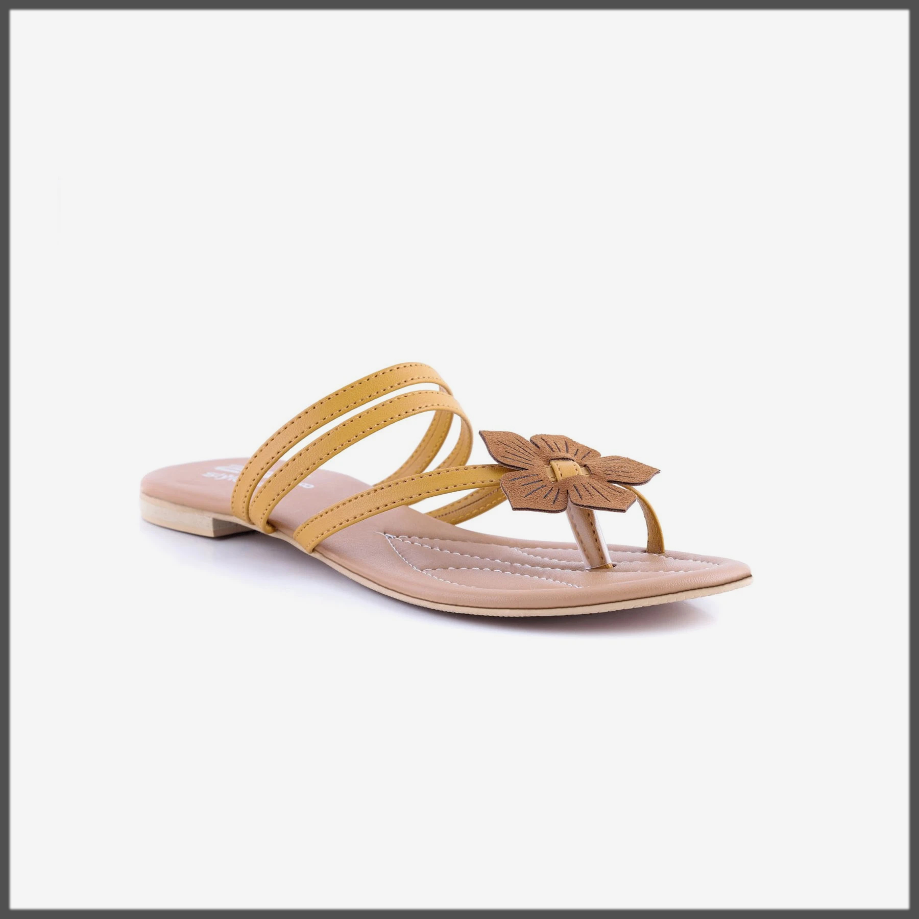 yellow summer chappal for women