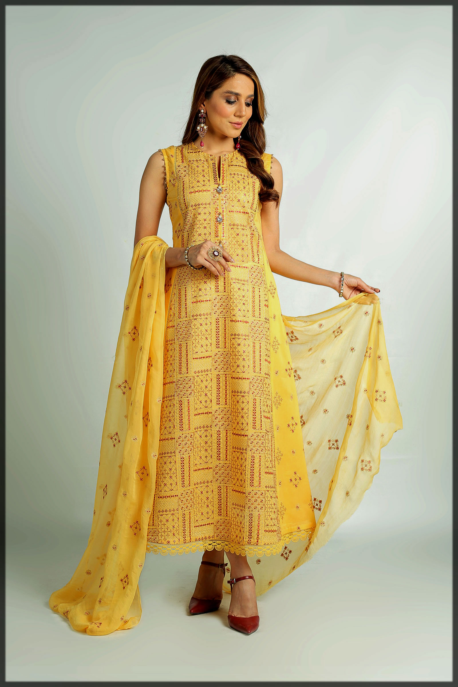 yellow summer eid suit