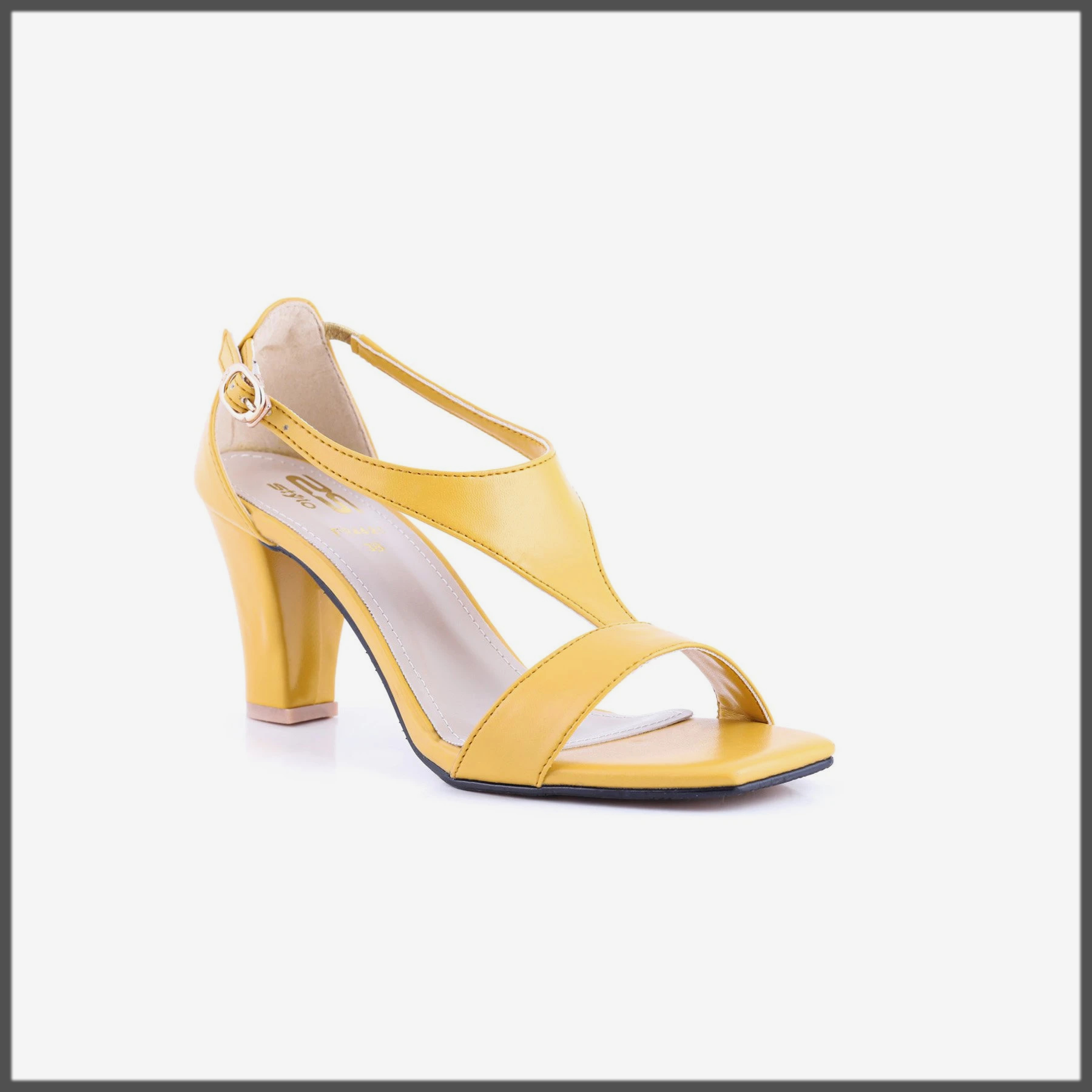 yellow summer formal shoes