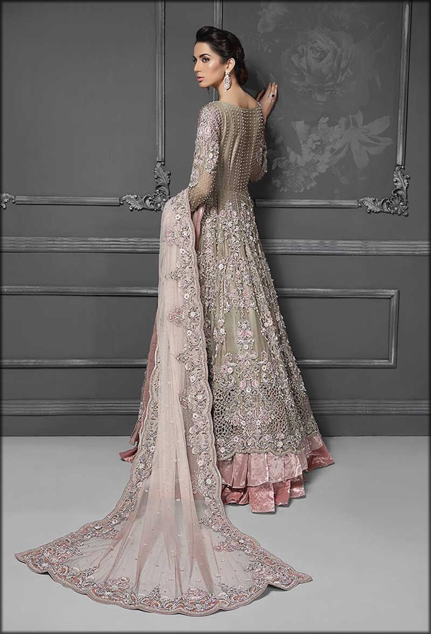 Back Vibes Of Bridal Flore Length gown