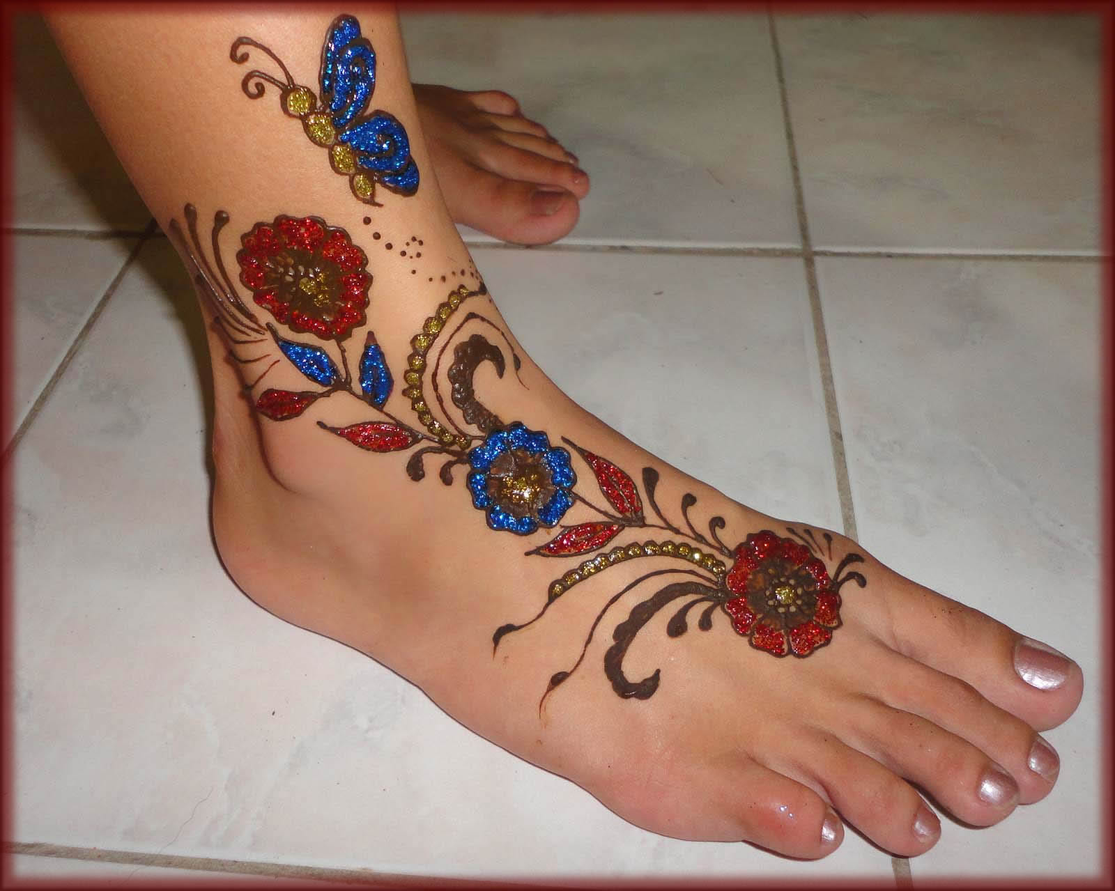 Blue Henna For Feet