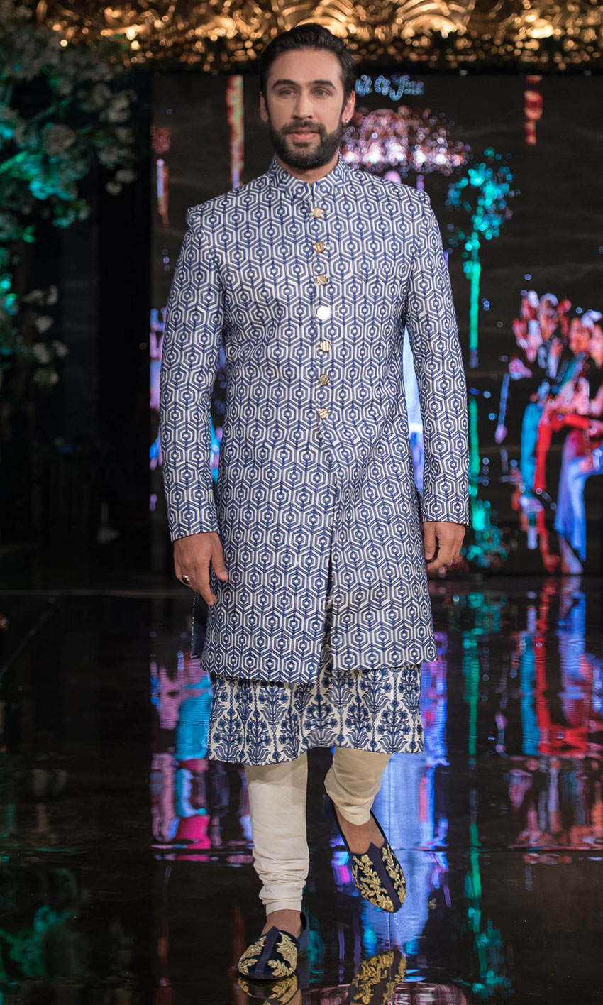 Blue Pakistani Barat Dresses For Groom