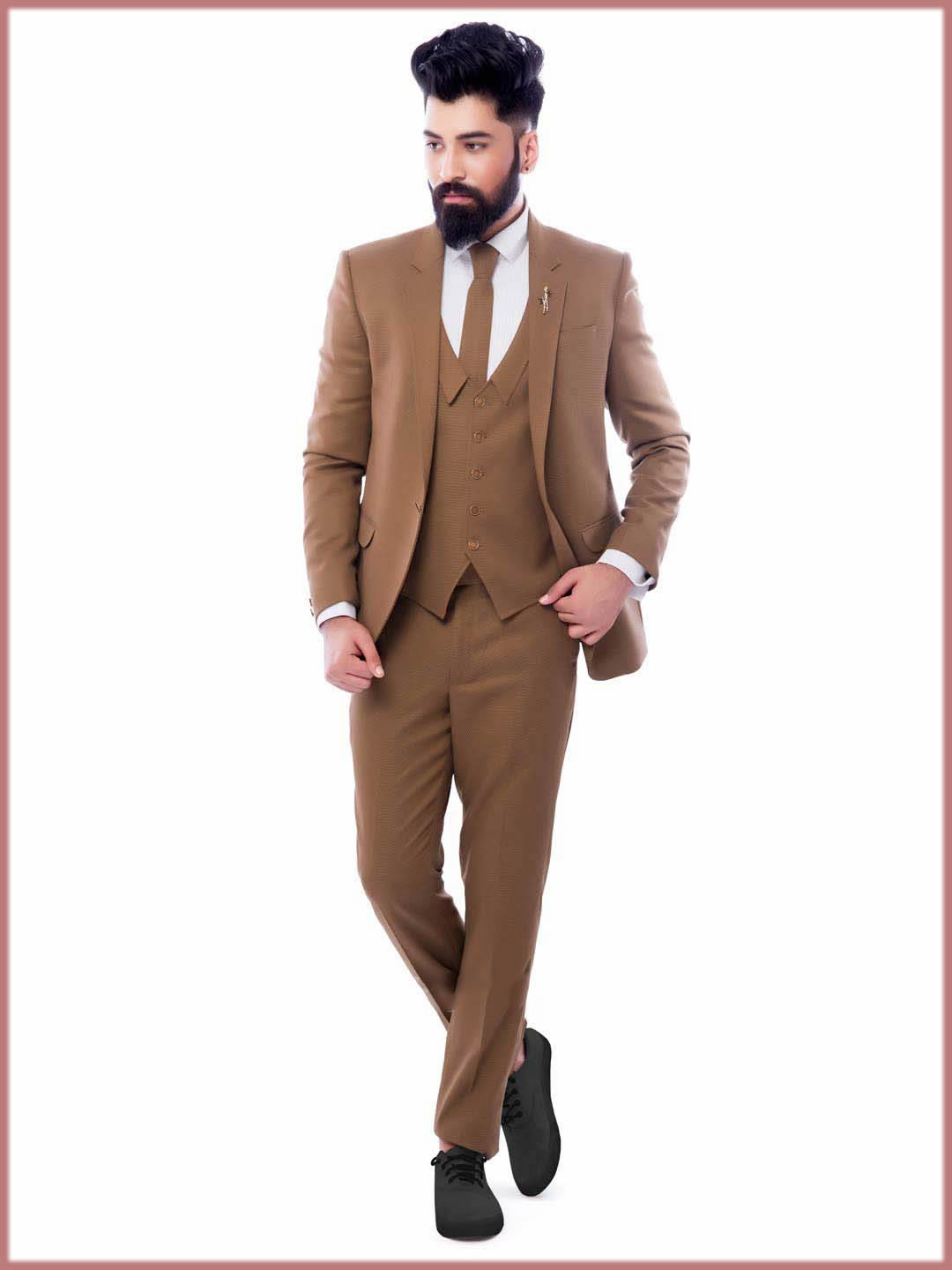 Brown Outfit For Walima