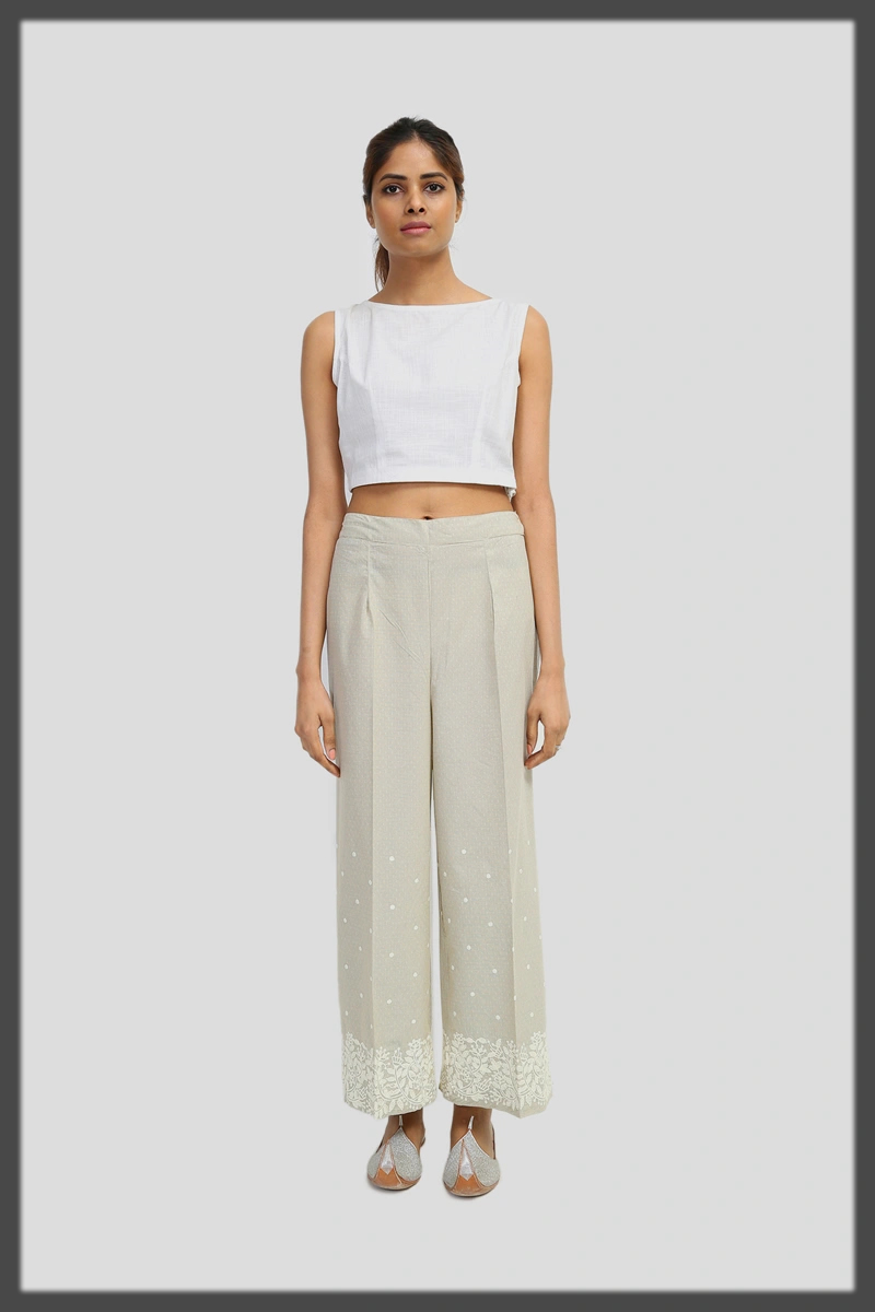 Cambric summer trouser