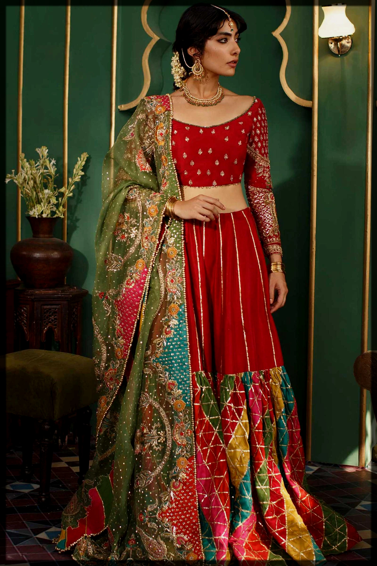 Classic Lehenga Choli in Zara Shahjahan Bridal Collection
