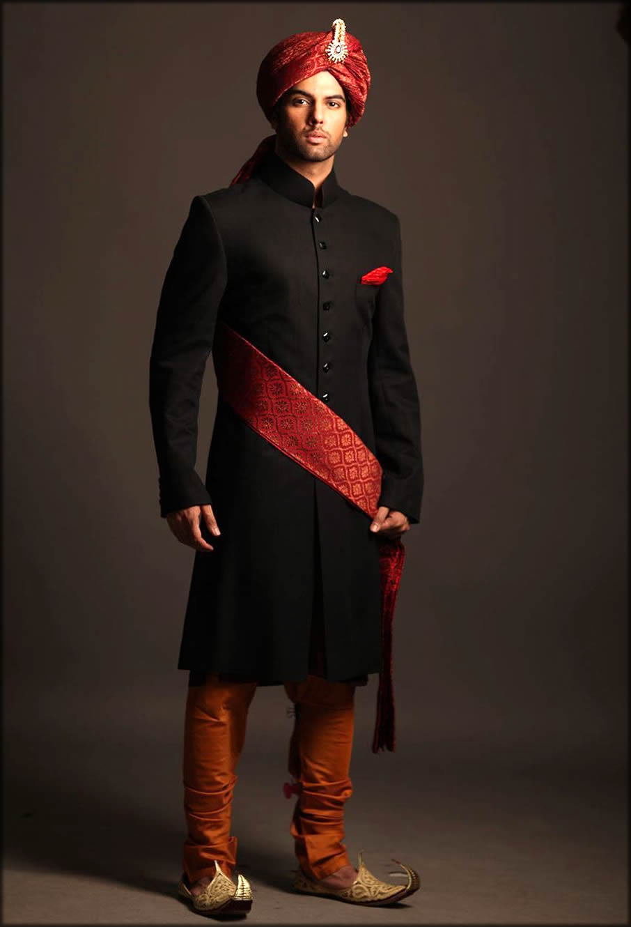 Decent Black Barat Dresses For Groom