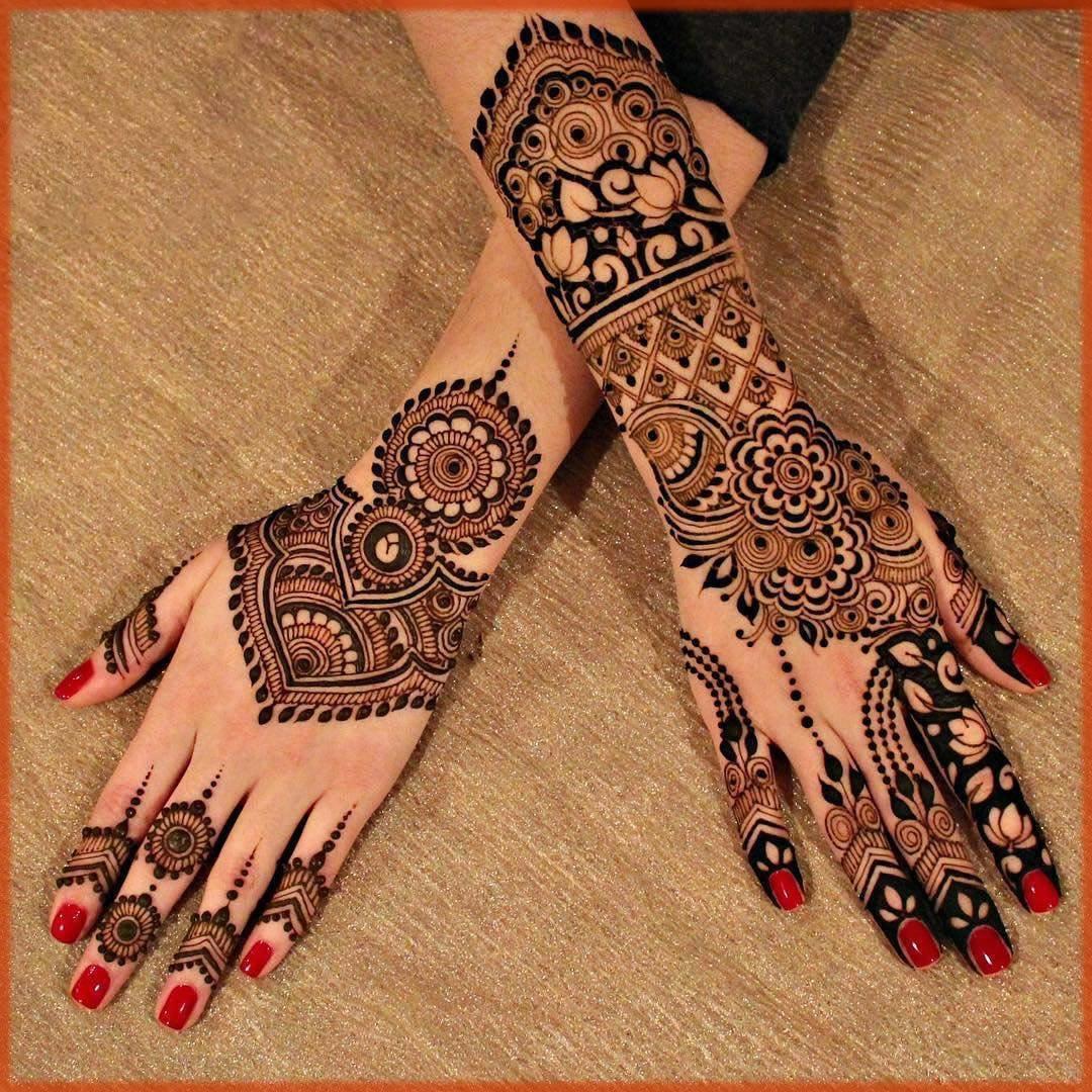 Dome style flower henna design