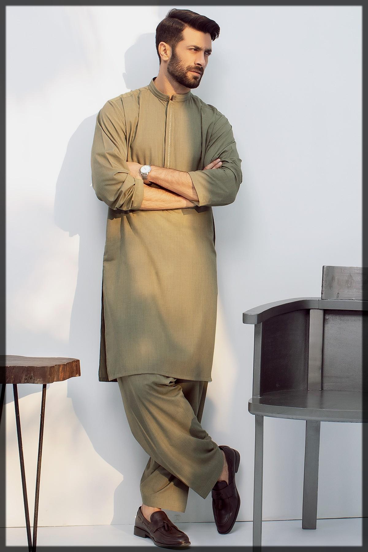 Dyed Blended Shalwar Kameez