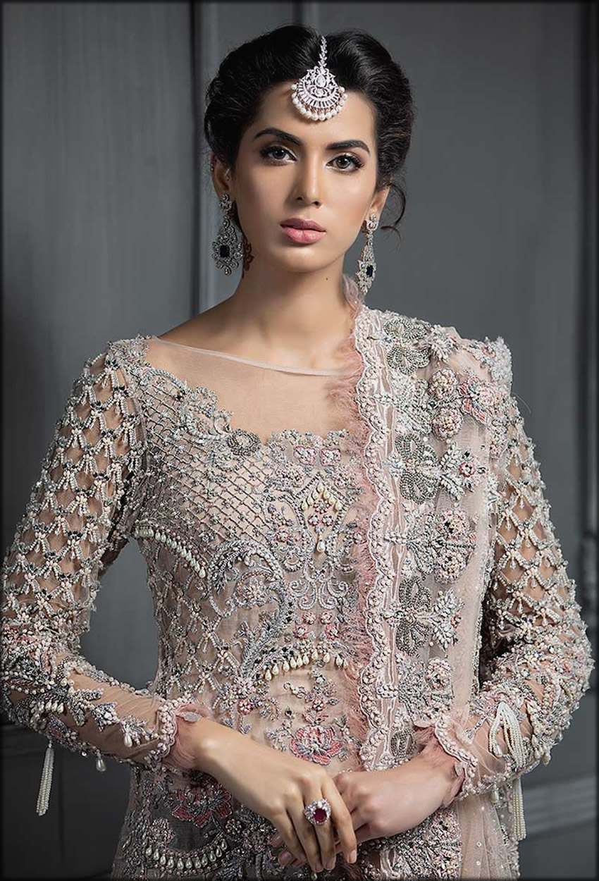 Elegant Fully Embroidered Maria B Bridal Collection