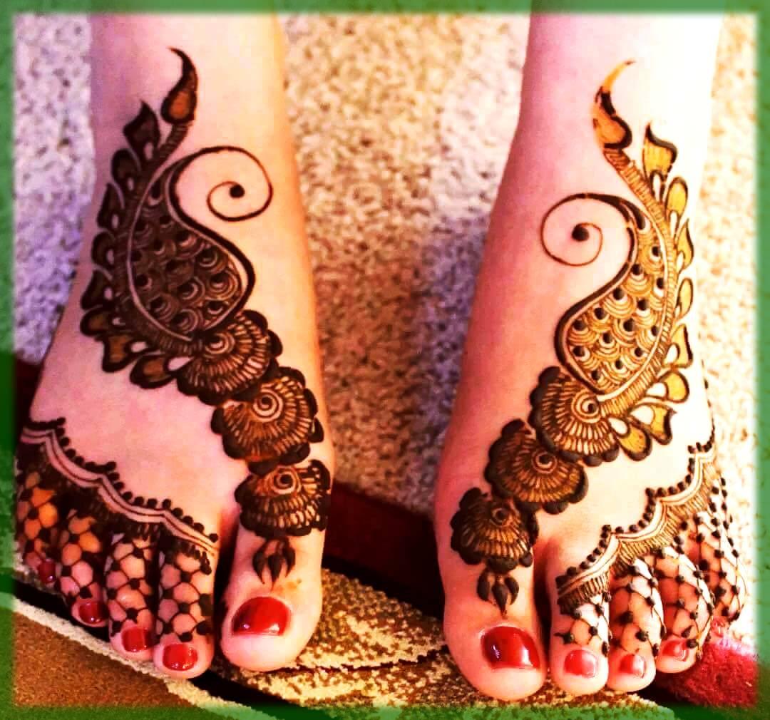 Floral Foot Mehndi Designs