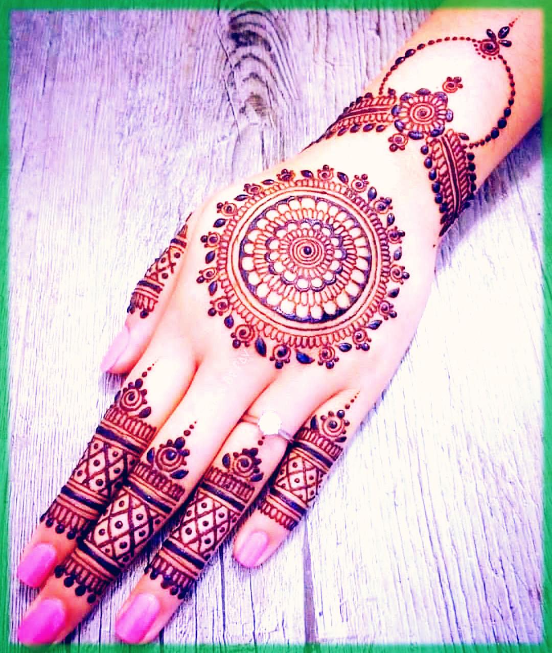 Floral Mandala Mehndi Design