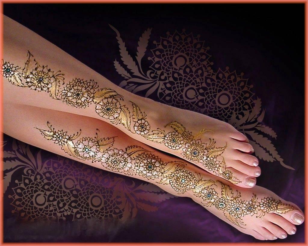 Full Leg Glitter Design