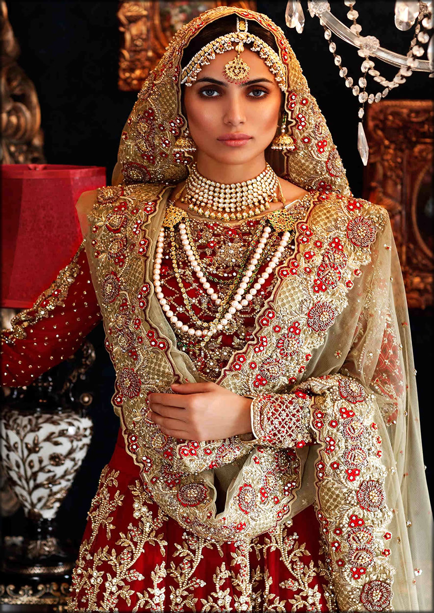 Fully Embroidered Elegant Maria B Bridal collection