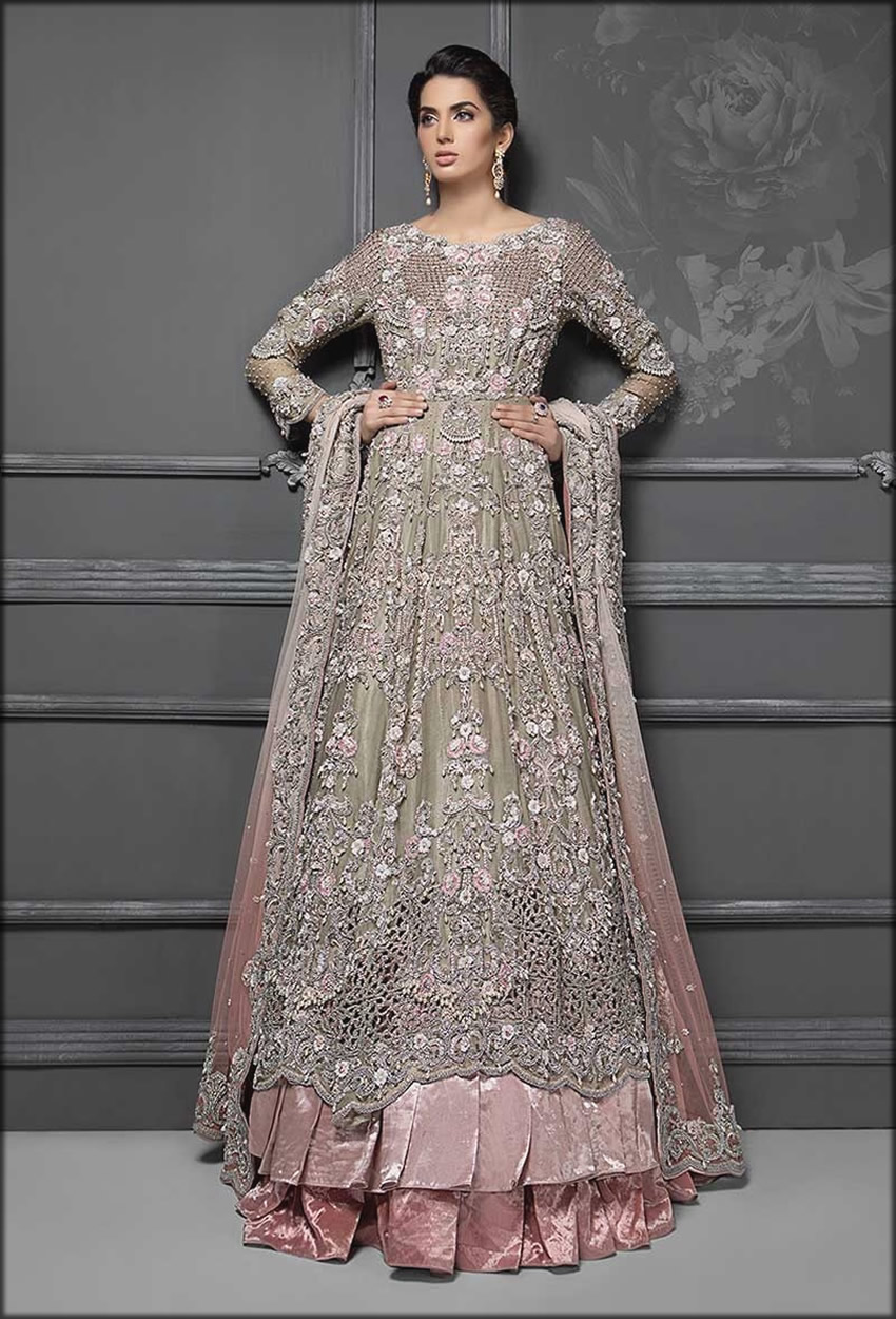 Fully Embroidered Maria B bridal Collection