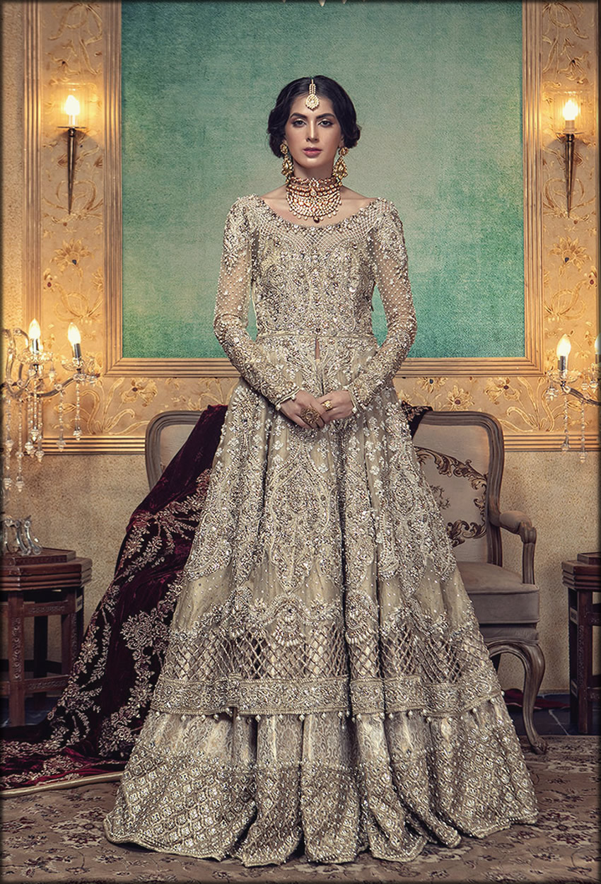 Hillary Color Lehenga With Embroidered upar