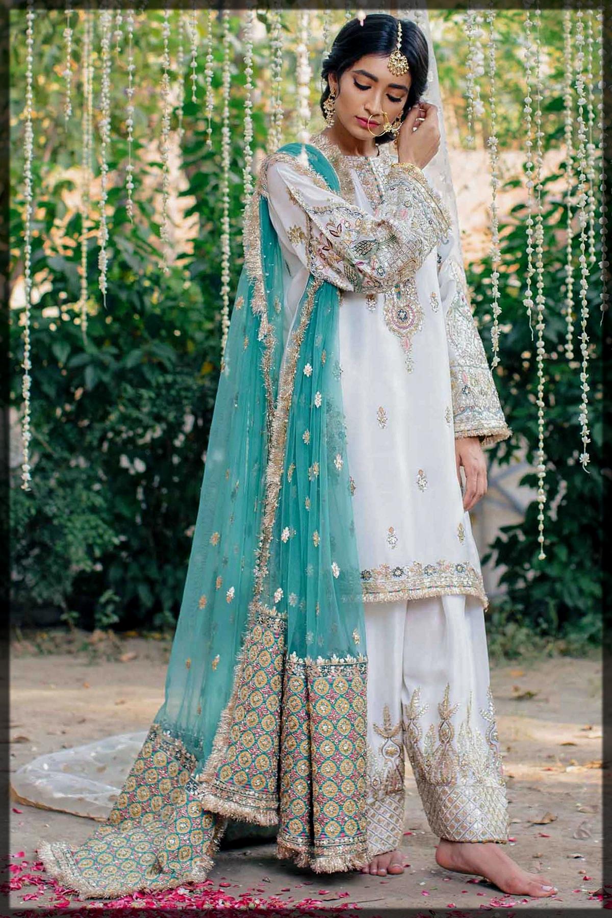 Impressive White Shalwar Kameez for Nikkah