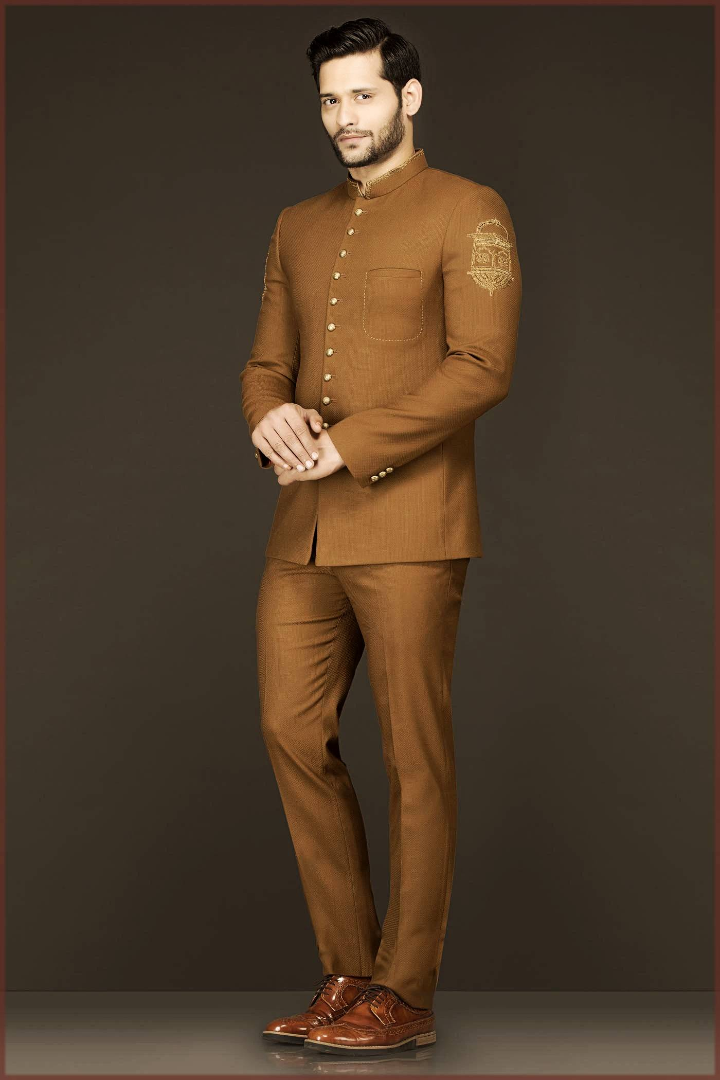 Light Brown Outfit For Walima