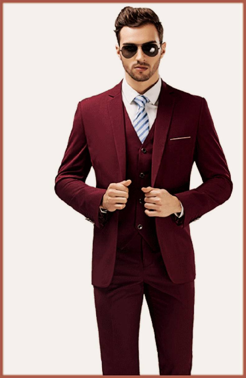 Maroon Walima Outfit For Groom