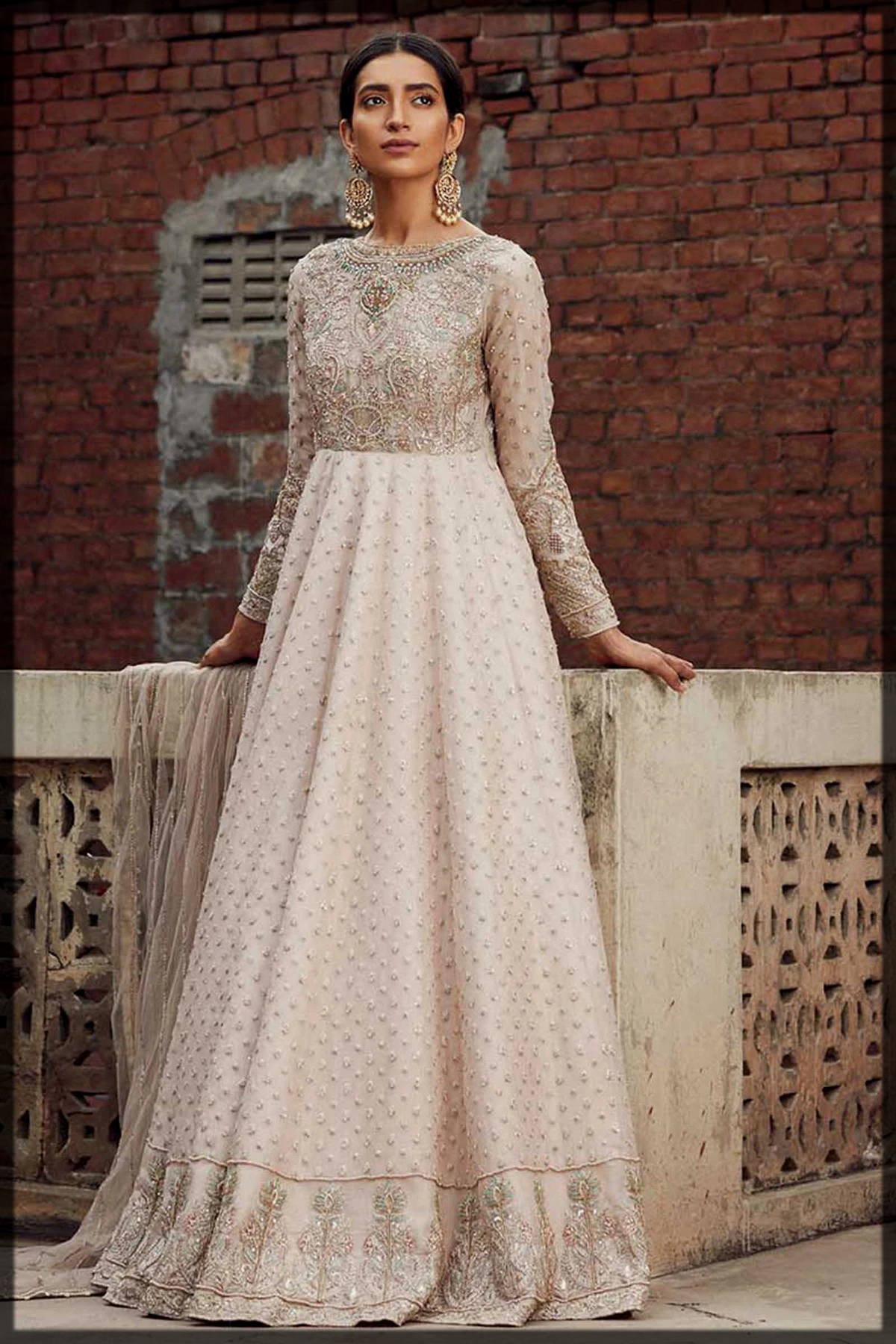 Maxi Style Dress in Zara Shahjahan Bridal Collection