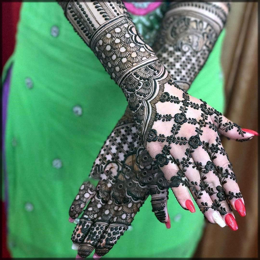 New arabic black mehndi designs