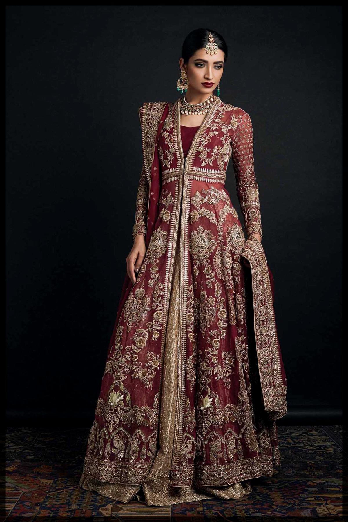 Ravishing Front Open Embroidered Dress for Barat Brides
