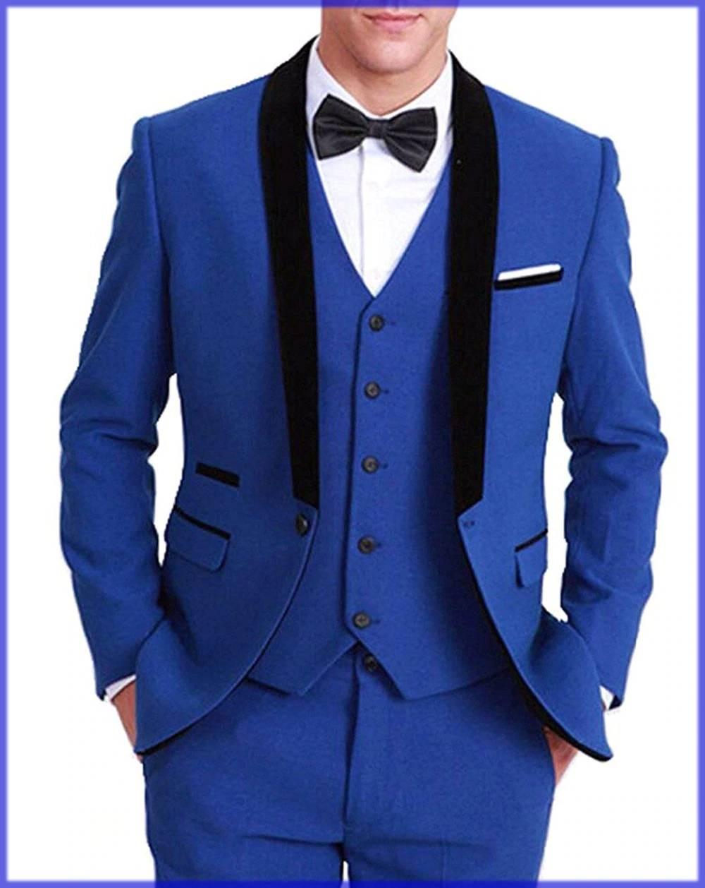 Royal Blue Walima Dress