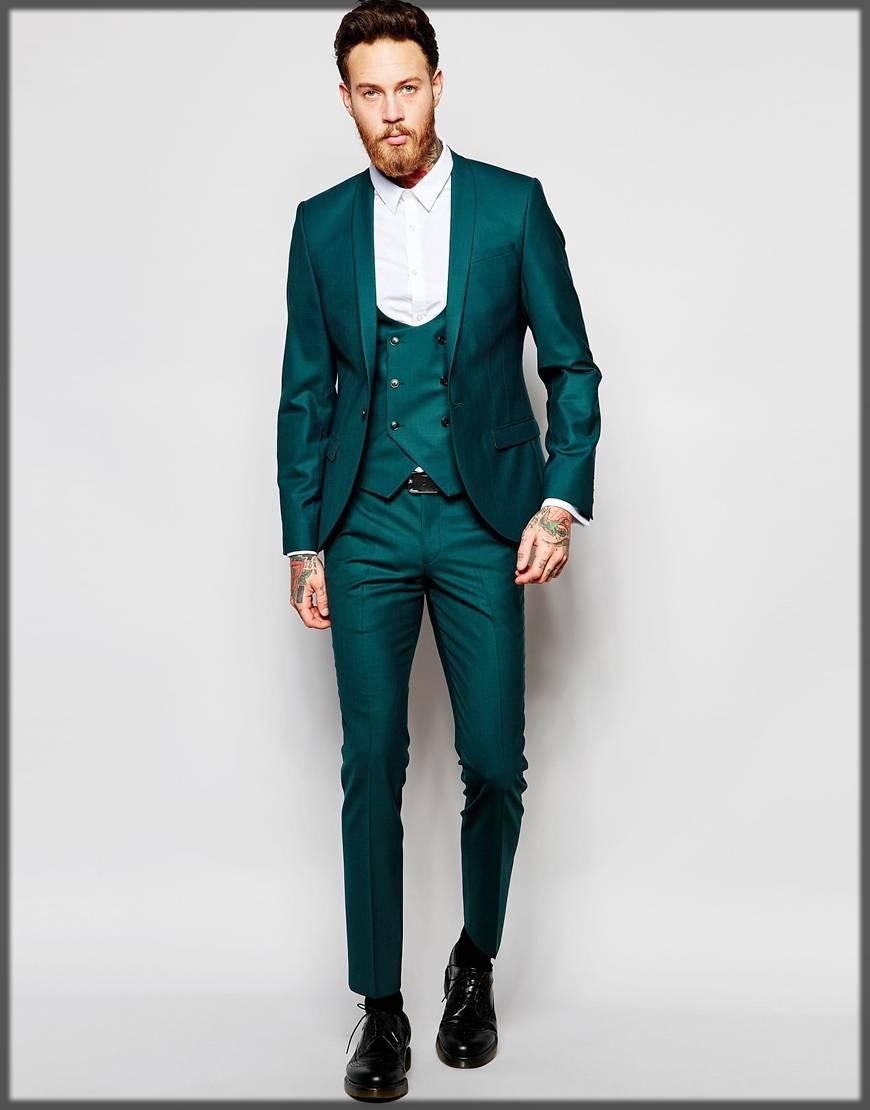 Stylish Green Suit