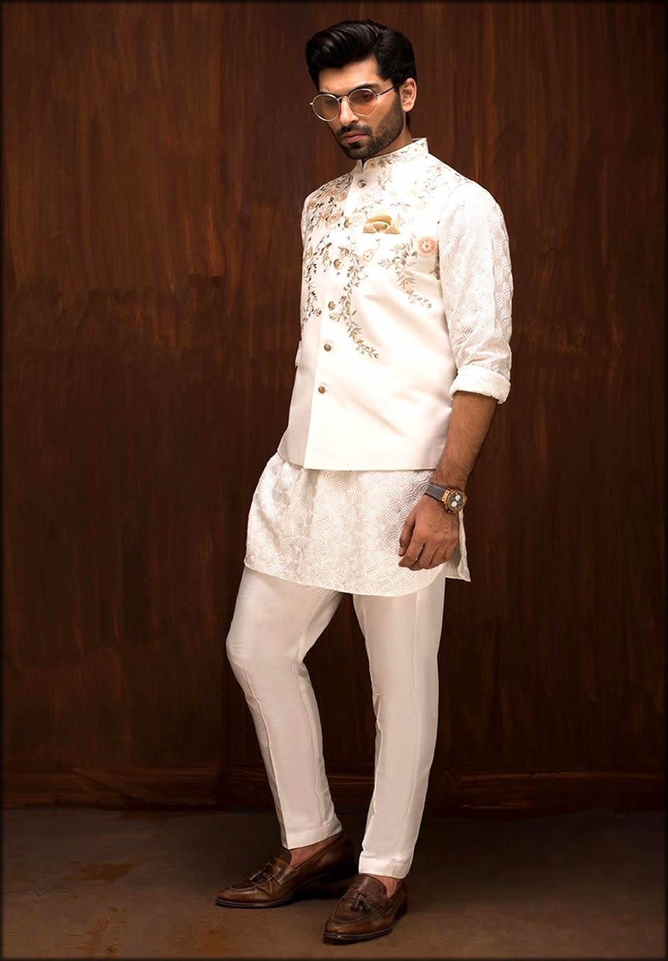 White Dress Matching Barat Dresses For Groom