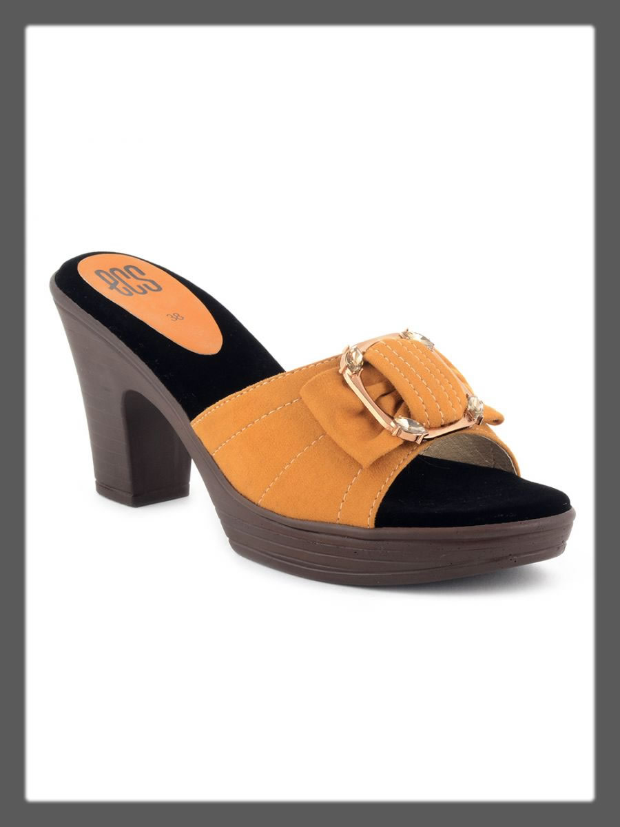 Yellow wedges for women
