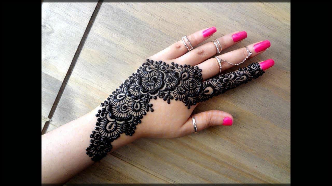 bail black mehndi designs