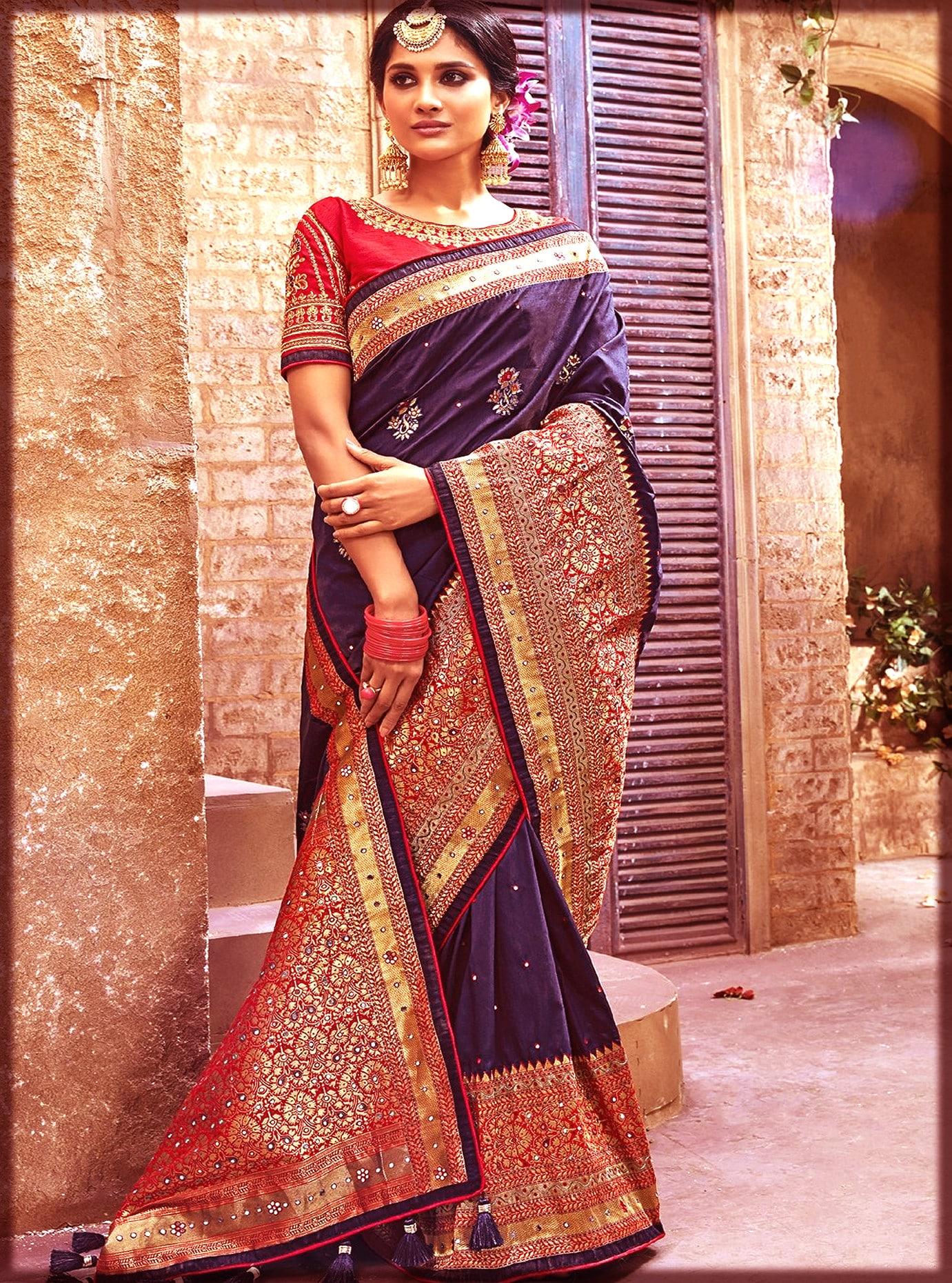 banarsi Indian Bridal sari