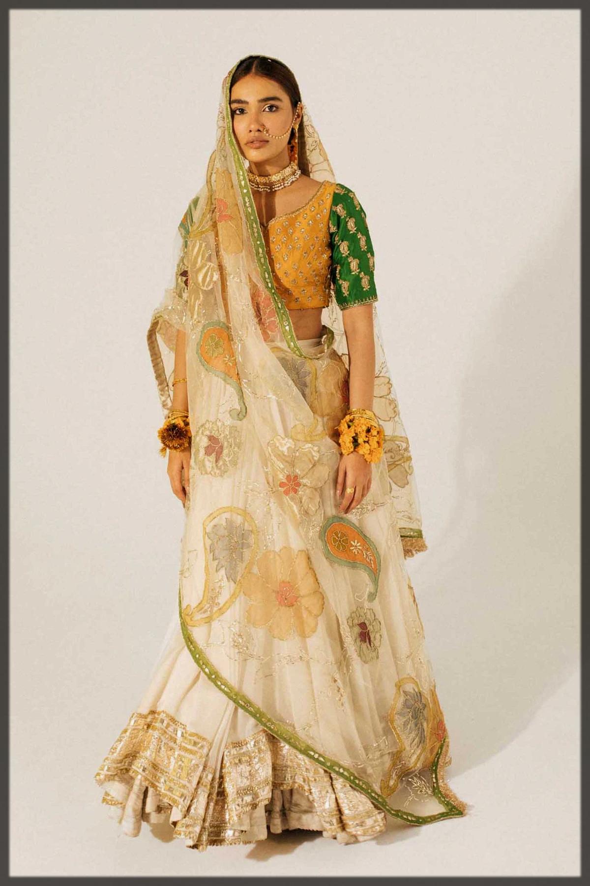 beautiful bridal mehndi dress for women
