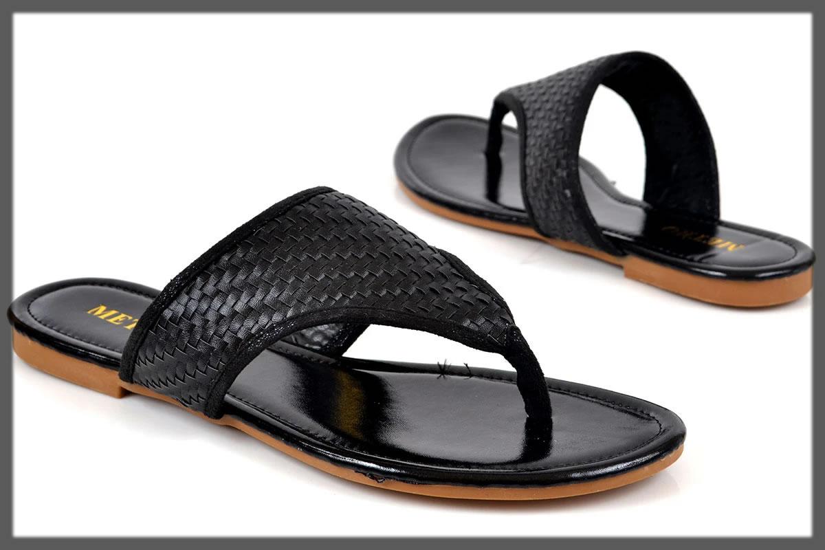 black casual footwear