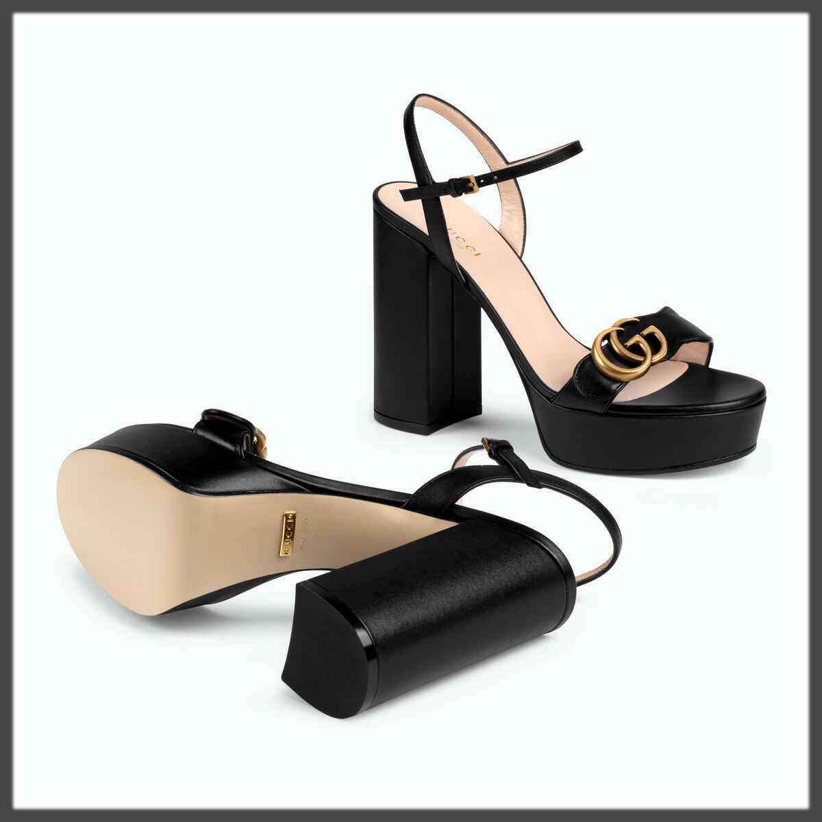 black gucci bradal footwear