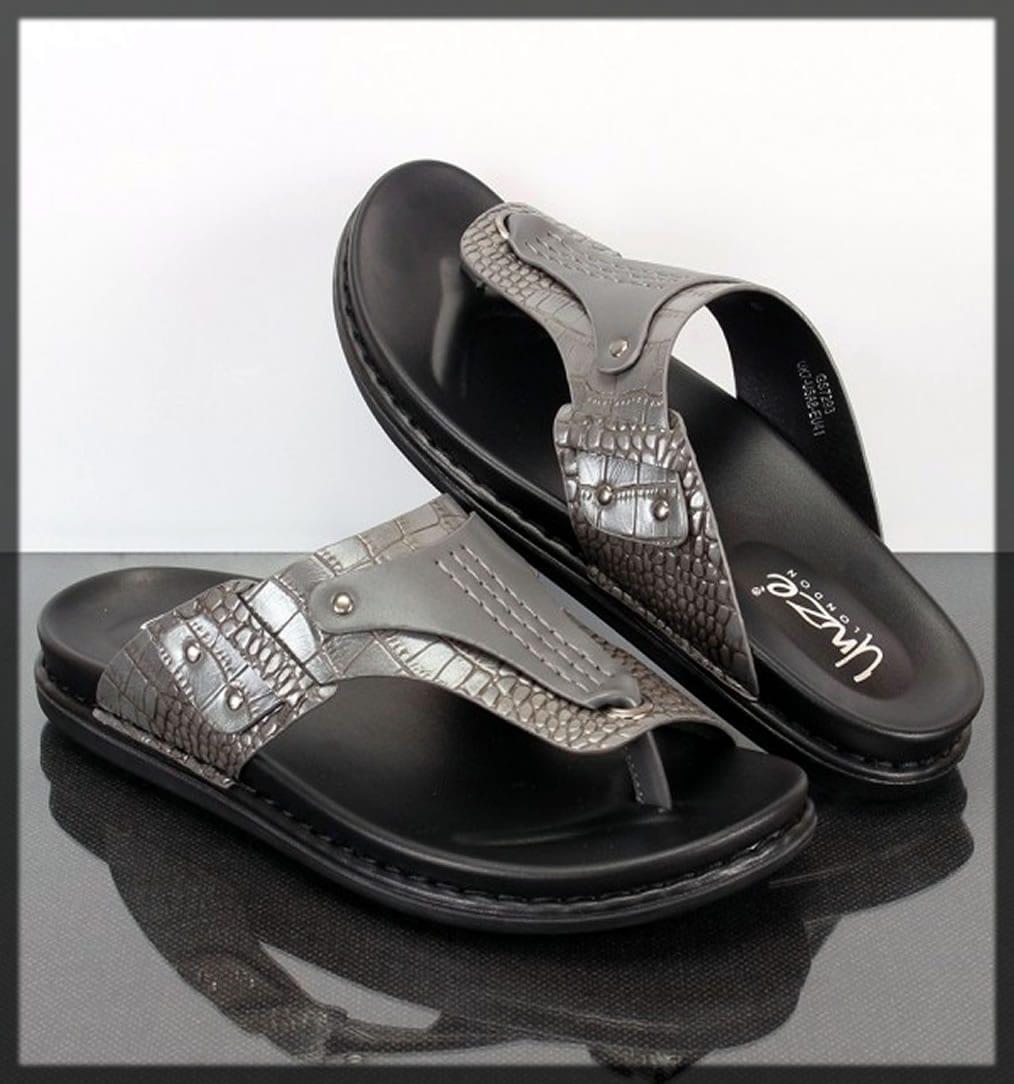 black home wear slippers by unze