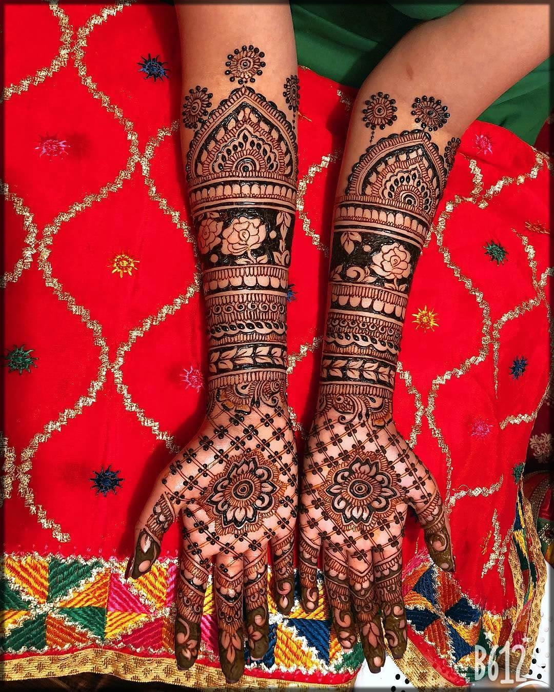 briald black mehndi designs