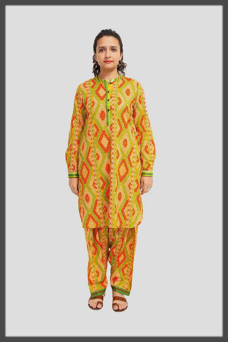 bright hues summer lawn suit