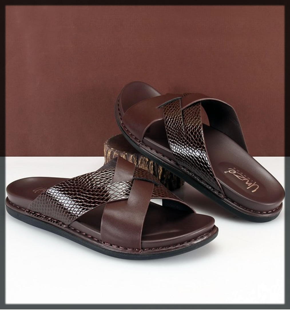 brown unze summer shoes for men