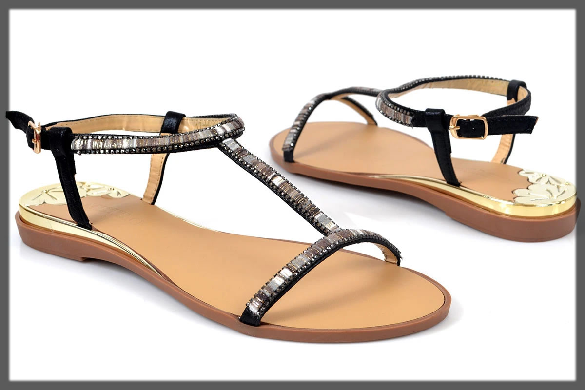 casual black sandals for women