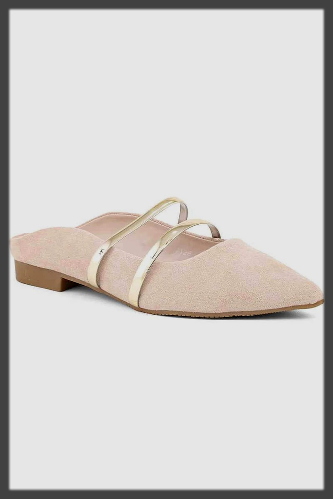 chic back open shoes
