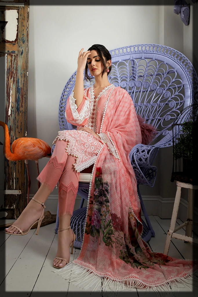 chic summer dress by sobia nazir