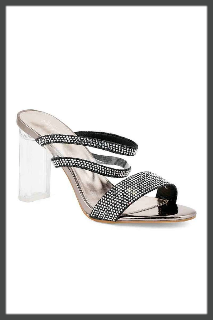 chunky heel shoes by insignia
