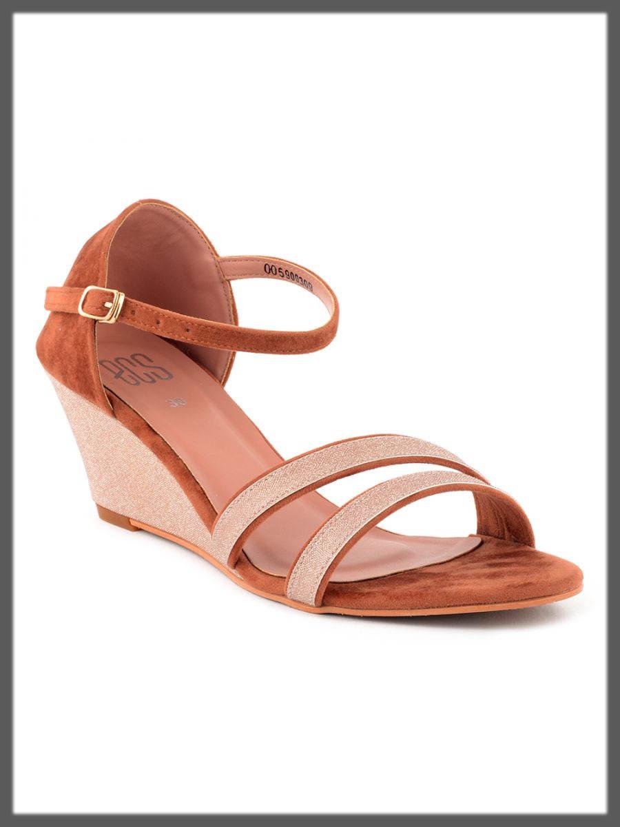 classic peach sandals