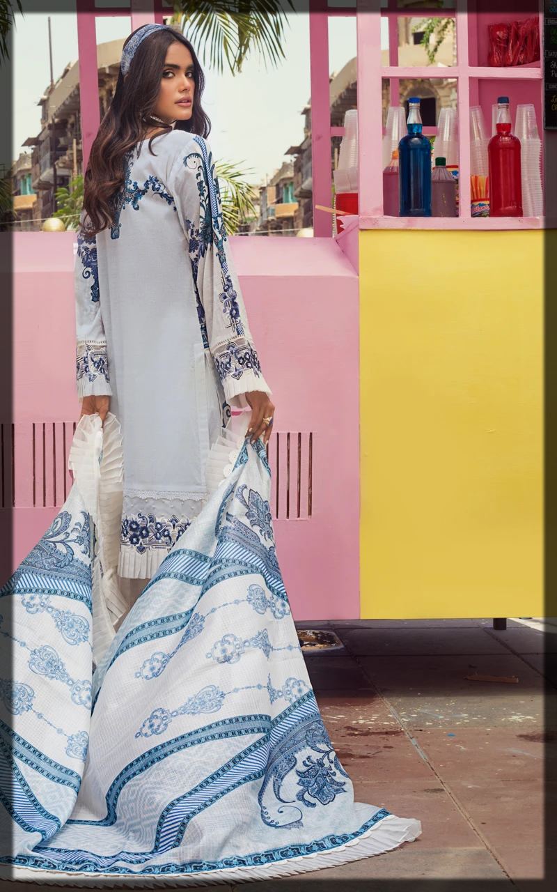 classical Threads and Motifs Lawn Collection for women