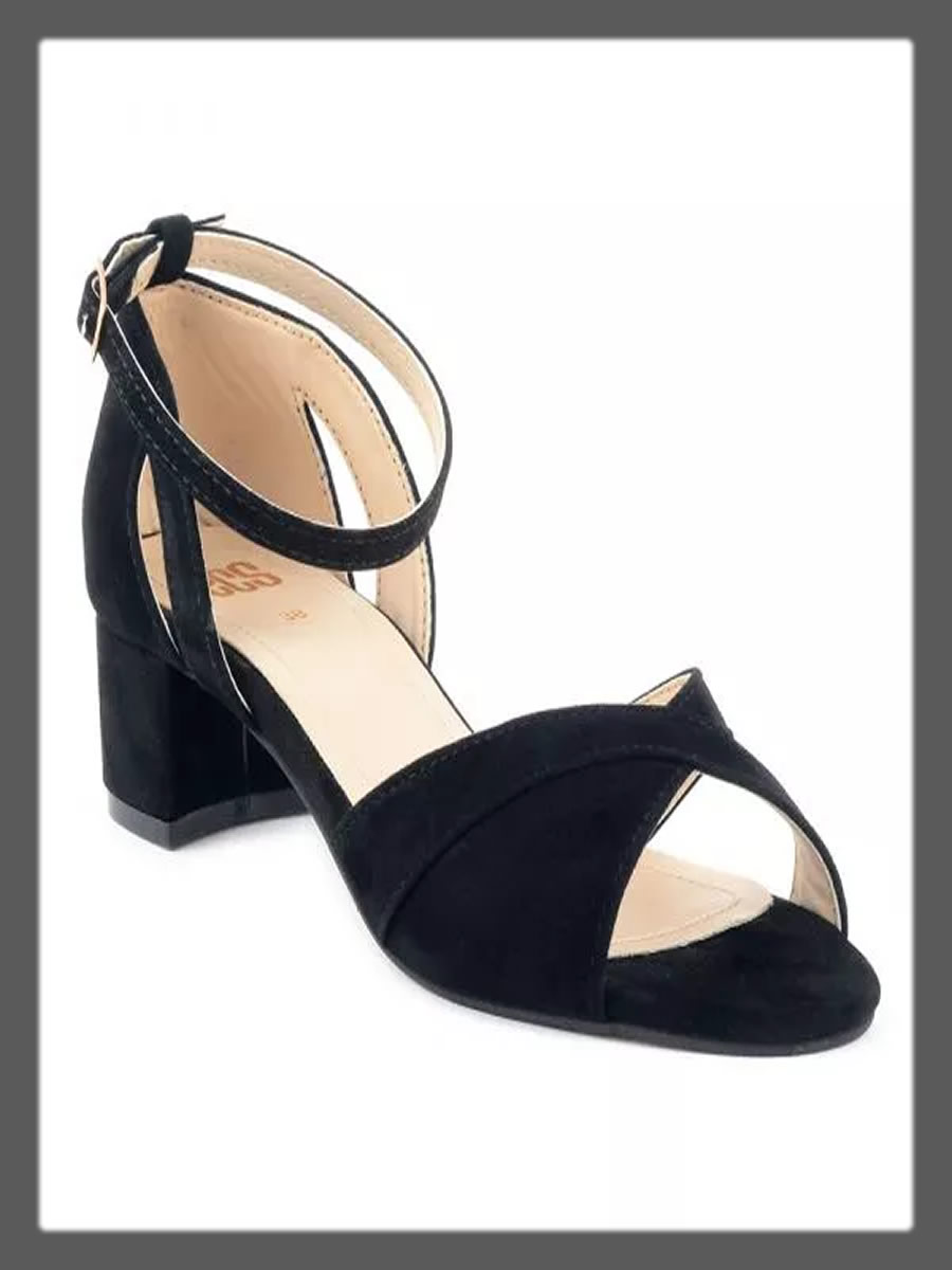 criss cross black sandals