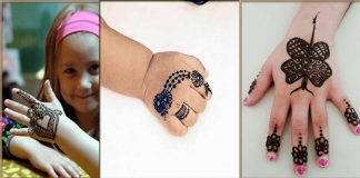 Cute Mehndi Designs for Kids and Teenage Girls 2021 Collection