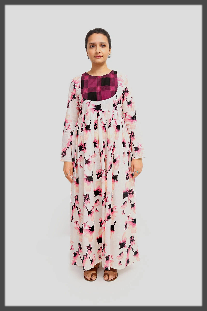 dazzling summer printed frock