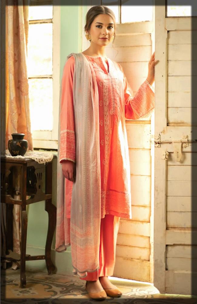 delightful pink lawn dress