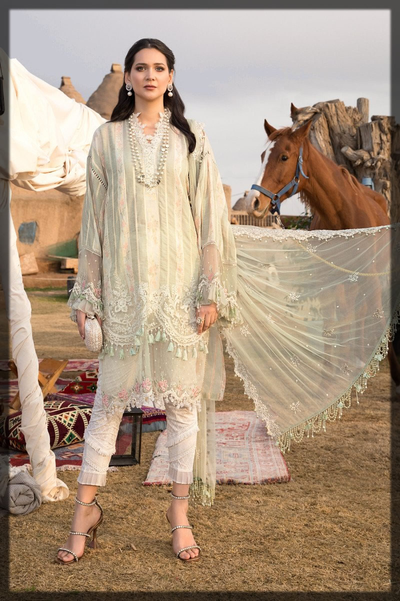 embroidered lawn outfit for girls